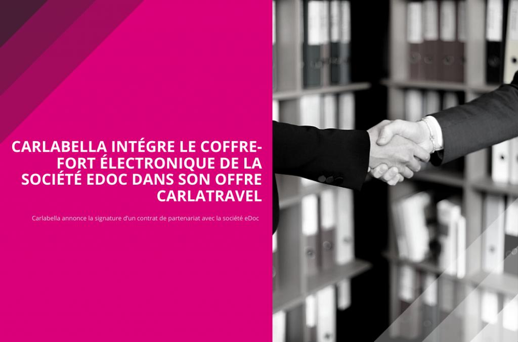 CarlaBella intégre le coffre-fort électronique de la société eDoc dans son offre CarlaTravel